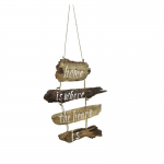 Wanddecoratie | Hout | Home is where the heart is